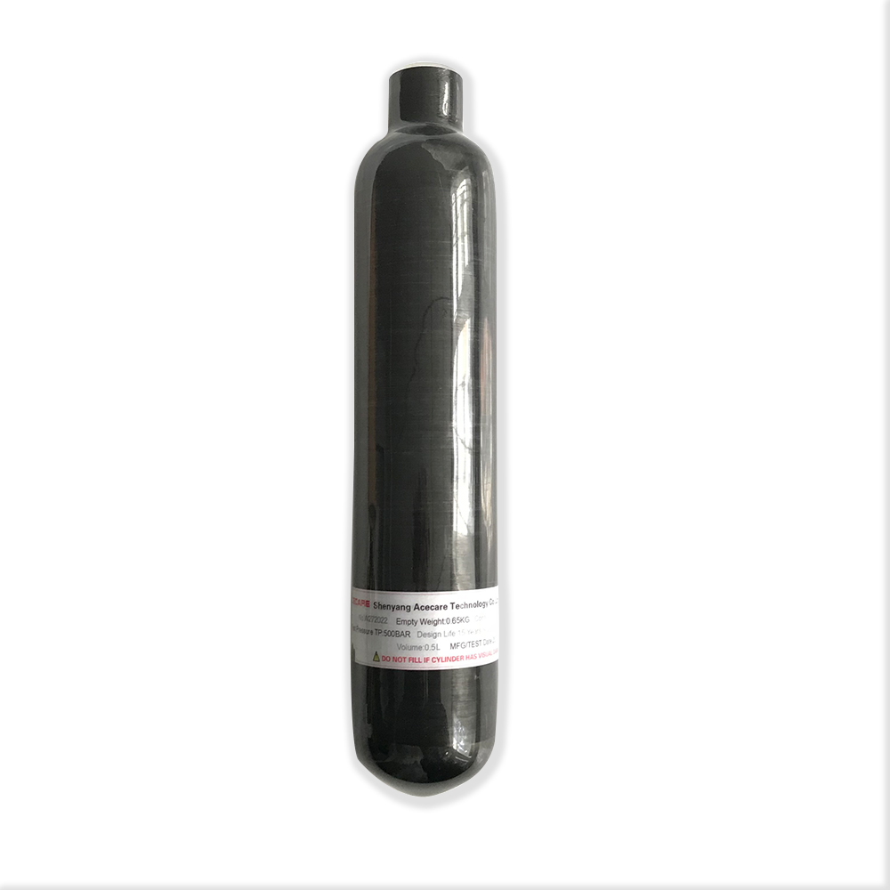 Promotion Hot 0.35L GB Black PCP Paintball Air Tank 4500PSI Gas Cylinder M18*1.5 Thread Acecare 2018