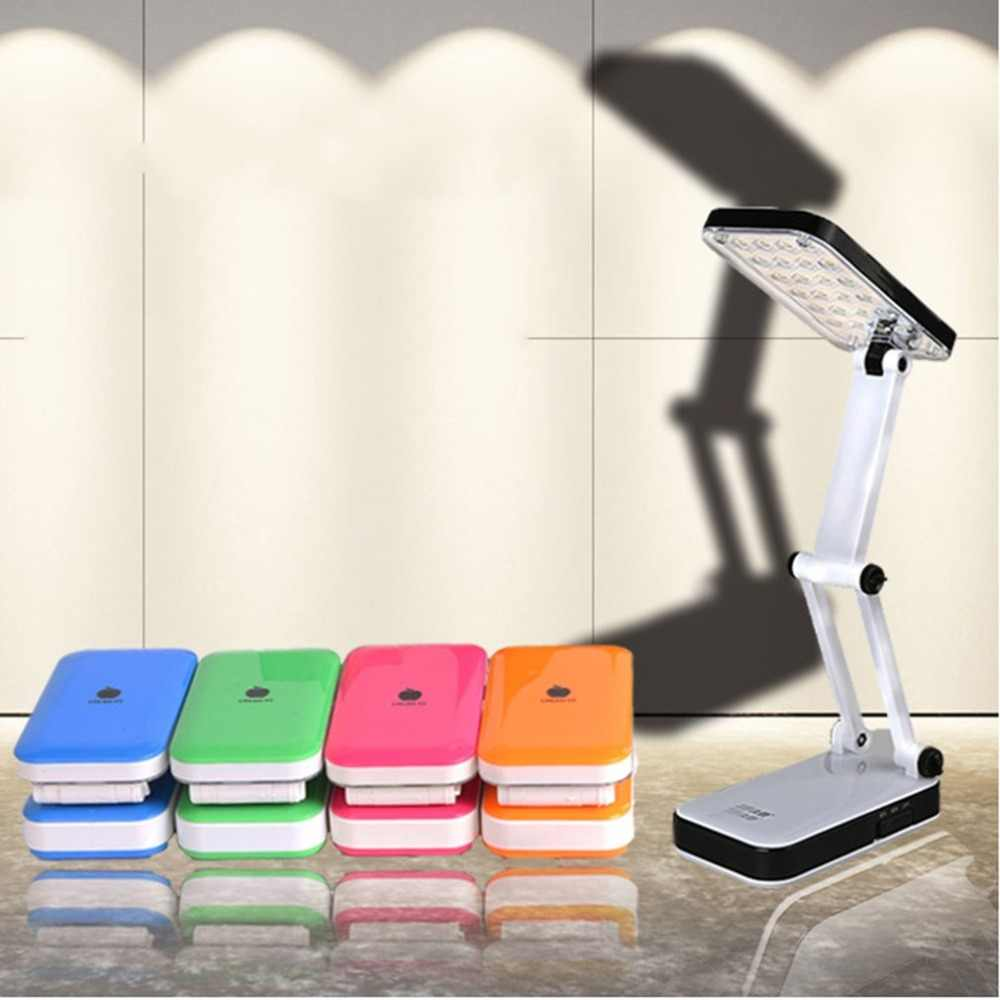Foldable LED Table Lamp Rechargeable 24 LEDs Folding Desk Lamp Student Reading Writing Dormitory Lighting