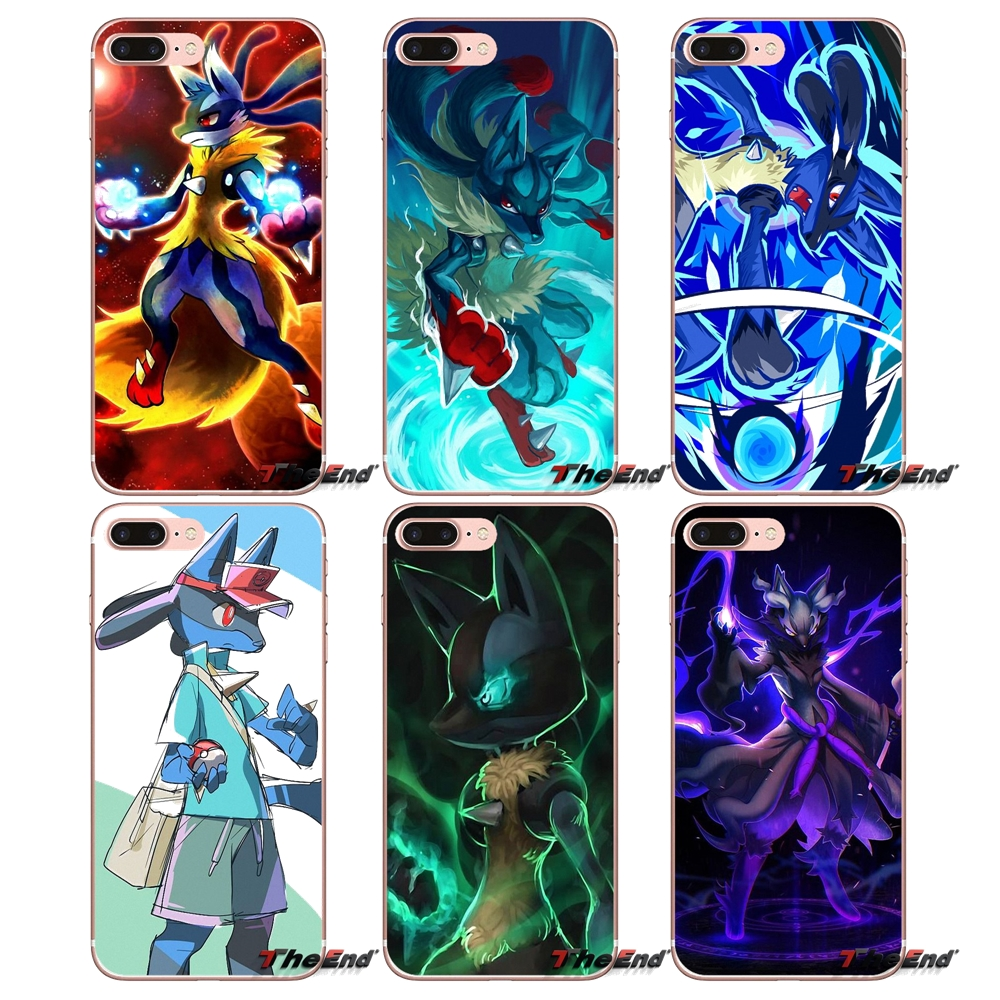 best website a38a0 d6517 US $0.99 |Mobile Phone Case Pokemon Mega Lucario Fan For Samsung Galaxy S2  S3 S4 S5 MINI S6 S7 edge S8 S9 Plus Note 2 3 4 5 8 Coque Fundas-in ...