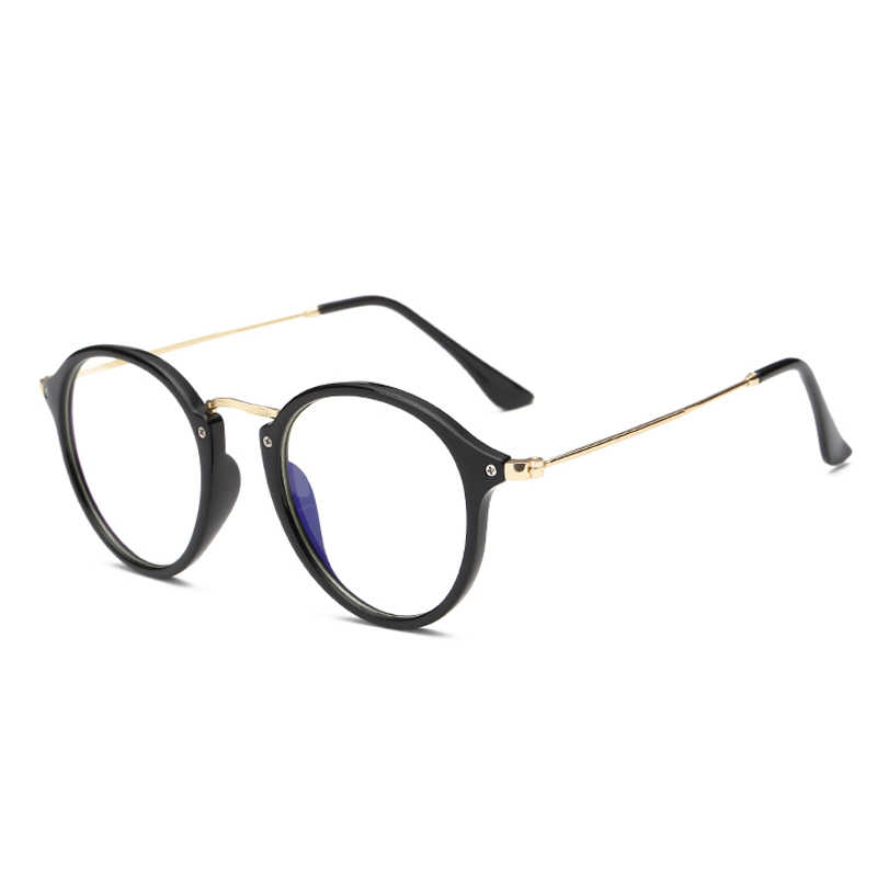 2018 fashion PC frame alloy anti blue light computer glasses men women coating film blocking ray from computer phone for gaming