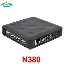 3 порта USB ARM11 800 мГц 128 М Оперативная память 128 м flash N380 win. CE 6.0 Тонкий поддержки клиентов превратить один на 100 пользователей или более черный цвет