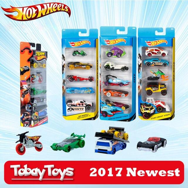5 Pcs Lot Hotwheels 1 64 Sport Car Set Metal Material Body Race Car