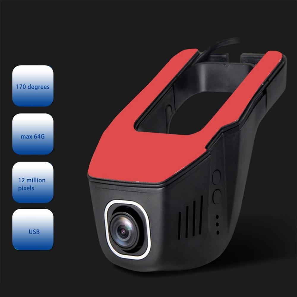 New 1080P Car font b DVR b font USB Concealed Vehicle Recorder Mini Tachograph font b