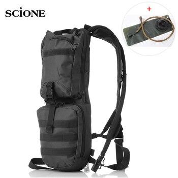 Bolsas de ejército cinturón táctico militar Molle mochila para bicicleta con bolsa de agua 3L impermeable deportes ciclismo correr mochila XA601YL