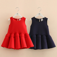 Brand Quality Red Fashion Girls Vest Dress Winter Girl Princess Dress Christmas Tutu Dress Girl Spring