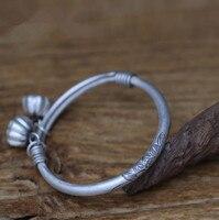 Винт регулировки Этническая лотоса сделано старый 990 серебро браслет (SYF)