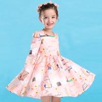 Girls Princess Dress 2016 New Spring Clothes Children Long Sleeve Dress In A Korean Child On