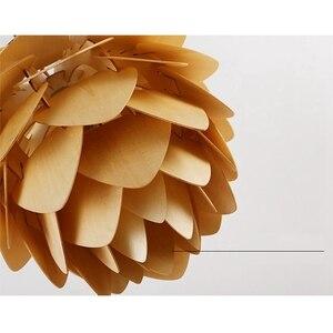 Image 5 - Moderna Lampade a sospensione Pigna Lampada Della Cucina per la Sala Da Pranzo Soggiorno Ristorante LED Illuminazione Loft Vintage Lampada In Legno