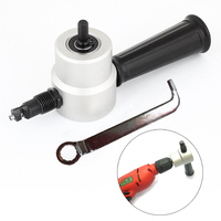 Double Head Sheet Nibbler Metal Cutter Drill Attachment Woodworking Wood Cutting Saw Cutter For Power Tool