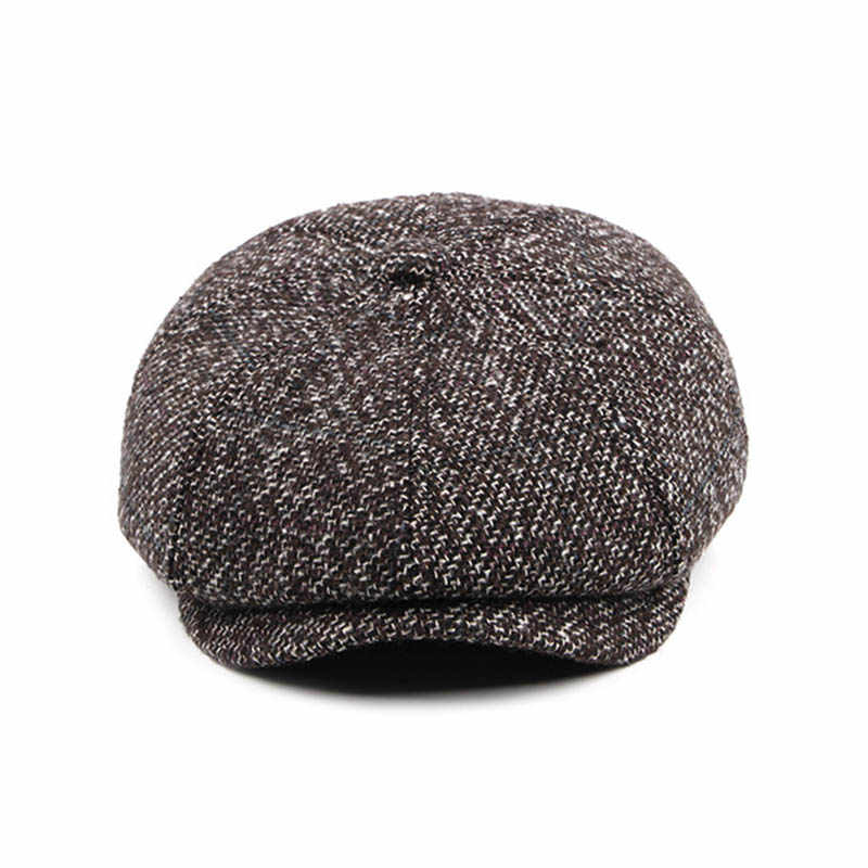 aa2b927335d67 ... Fibonacci High Quality Flat Cap Wool Large Size Vintage Cabbie Hat  Gatsby Ivy Cap Irish Hunting ...