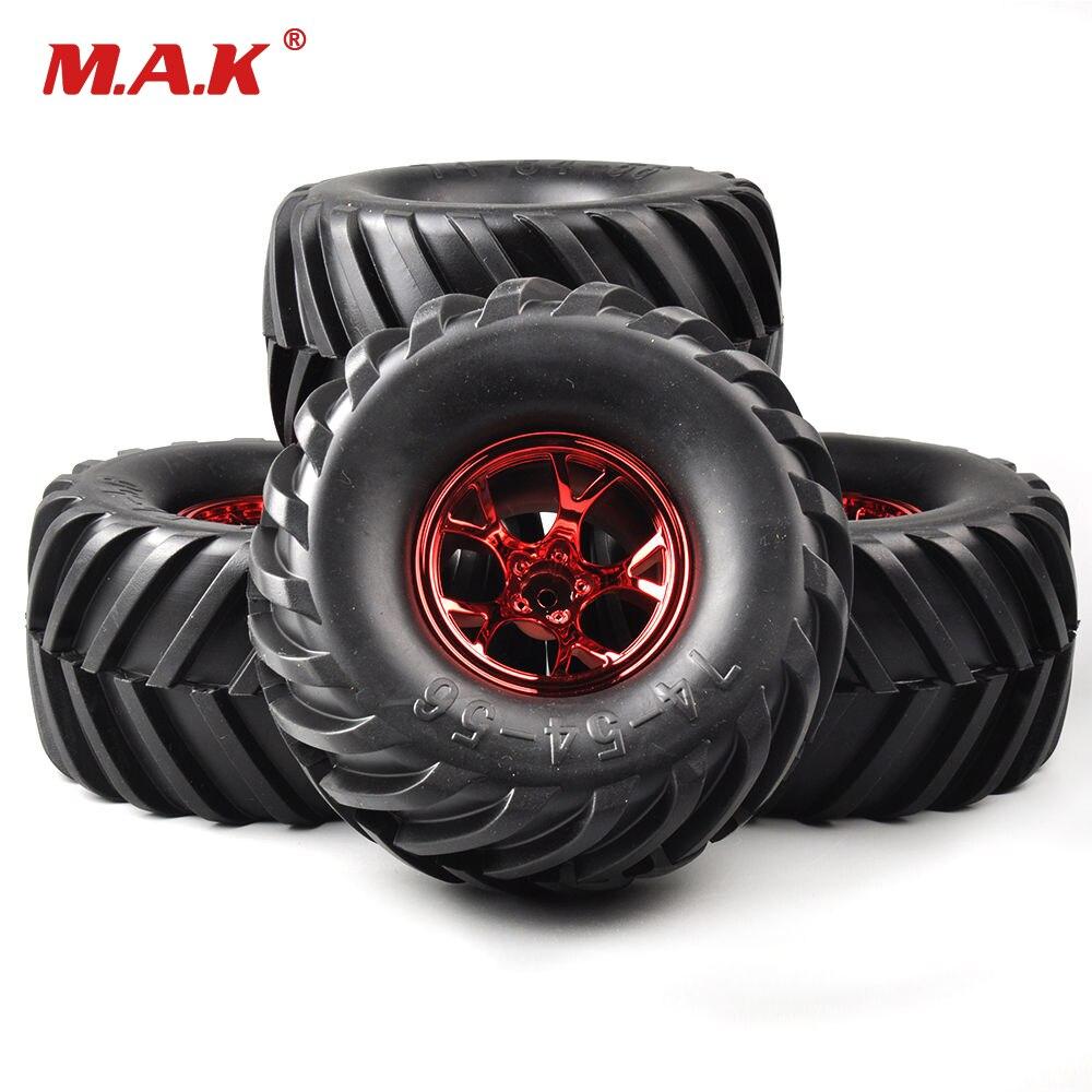 135mm RC 1:10 Racing Bigfoot Monster Tires Wheel Rims 4Pcs For HSP HPI Car 12mm Hex