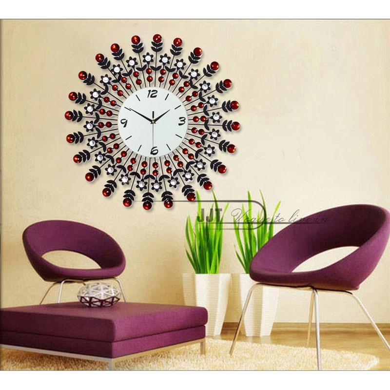 wrought iron wall clock wanduhr home decor modern design ...