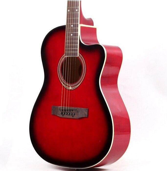 39-6-2 guitares 39 pouces guitare acoustique Basswood guitarra instrumentos Musicais cordes de guitare