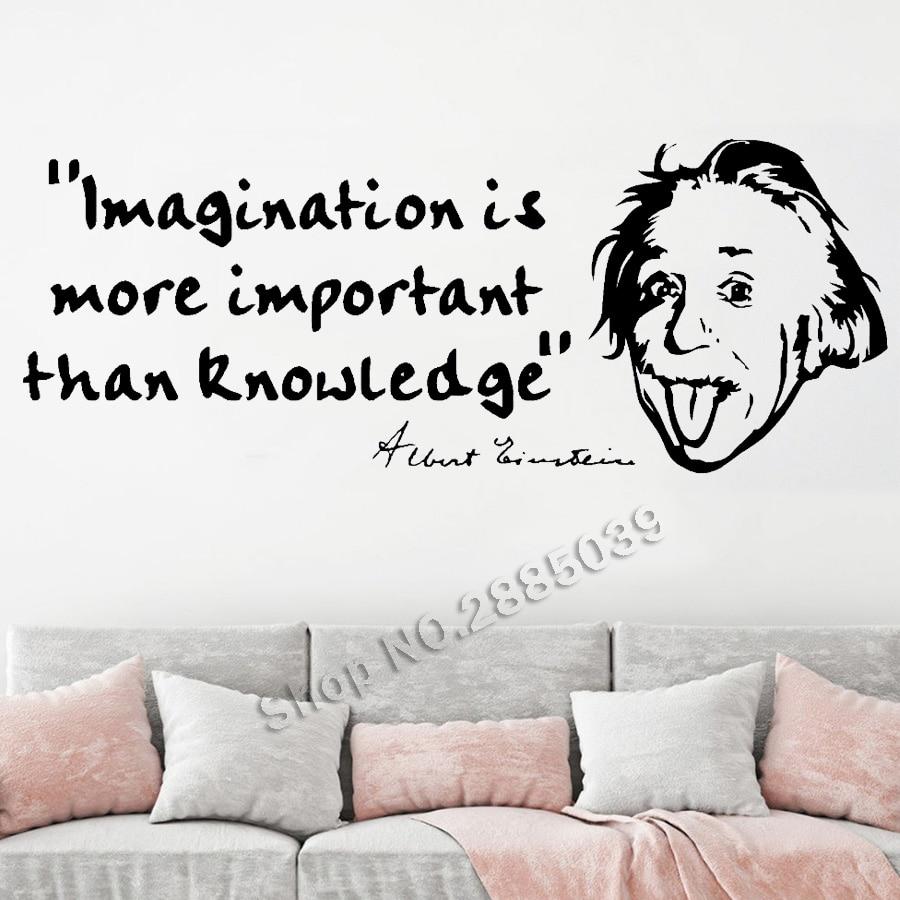 Inspirational Quote Albert Einstein Quote Wall Art Sticker Vinyl Decal