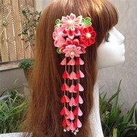 Hand made haarspeld doek haar clip haarspeldjes Japanse chinese stijl anime cosplay accessoires gratis verzending bloem