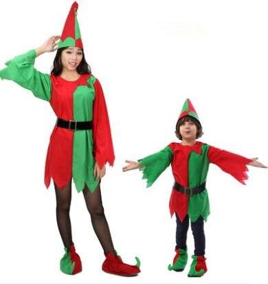 divertidas de la navidad trajes de navidad para las mujeres ropa pareja traje de elfo de