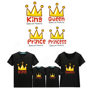 King Queen Prince Princess for family patches T-shirt Dresses Sweater thermal transfer Patch for clothing By Household Irons(China)