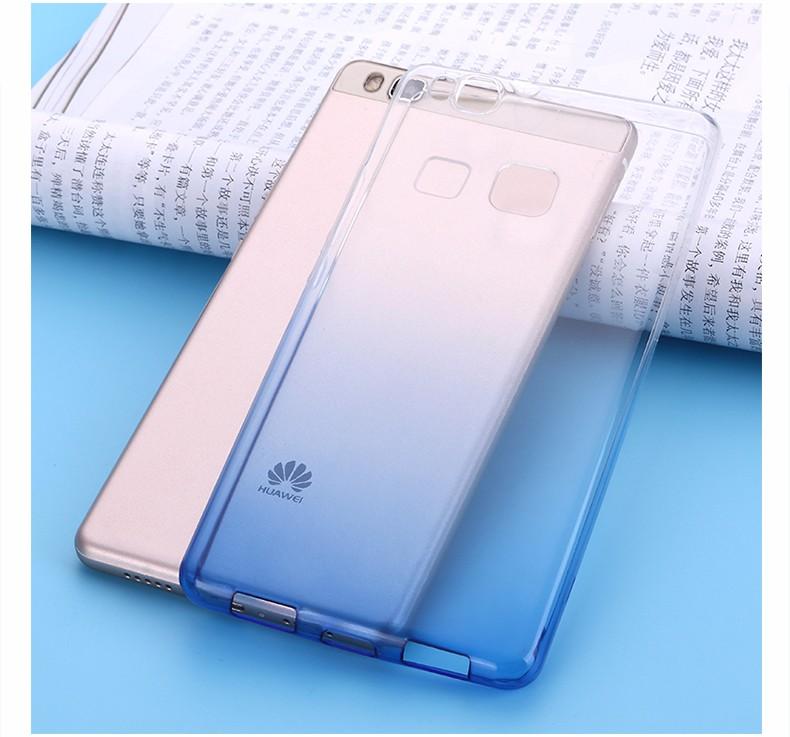 Ultra-cienki przezroczysty miękka tpu case dla huawei p8 p9 plus p8 lite krzemu gradientu telefon ochronna pokrywa dla huawei p9 Shell 12