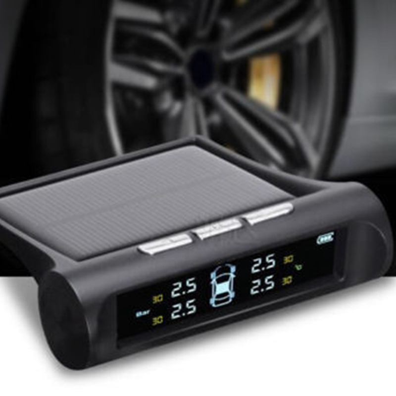 Solar Power TPMS Wireless Tire Pressure Monitoring System Car tyre pressure alarm System With LCD color display universal hotaudio dasaita built in tpms car tire pressure monitoring system car tire diagnostic tool with mini inner sensor