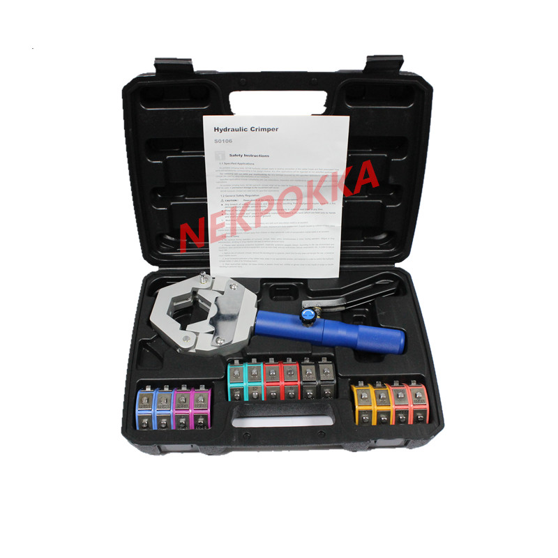 1500 Hydra-Krimp A/C Hose Hydraulic Crimper Kit Hose Fittings Crimping Tool Set