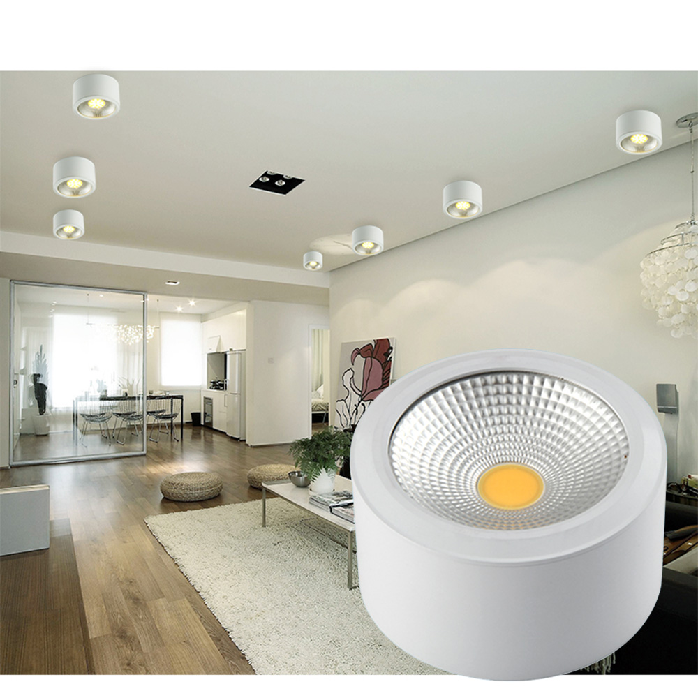Dbf Surface Mounted Led Downlights 3w 5w 7w 12w Ceiling Lamp Kitchen Bathroom Cob In From Lights