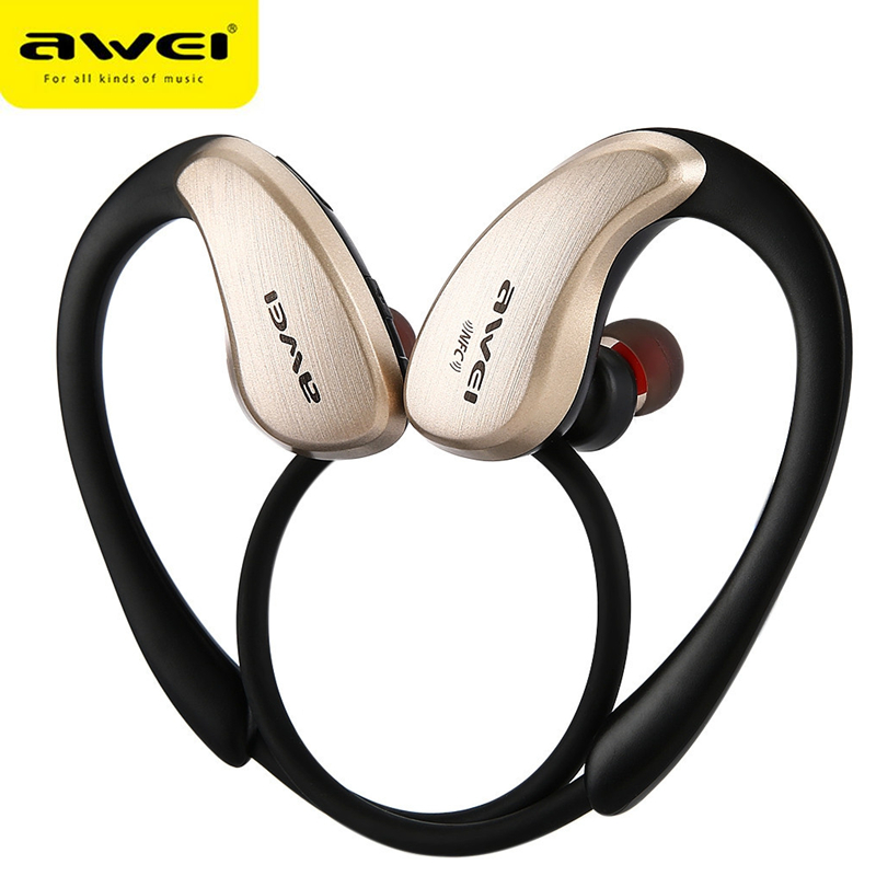 Awei A885BL Wireless HiFi Bluetooth Headphones Waterproof Earphones Noise Reduction Headset with Microphone NFC for IPhone 6 7 dental endodontic root canal endo motor wireless reciprocating 16 1 reduction