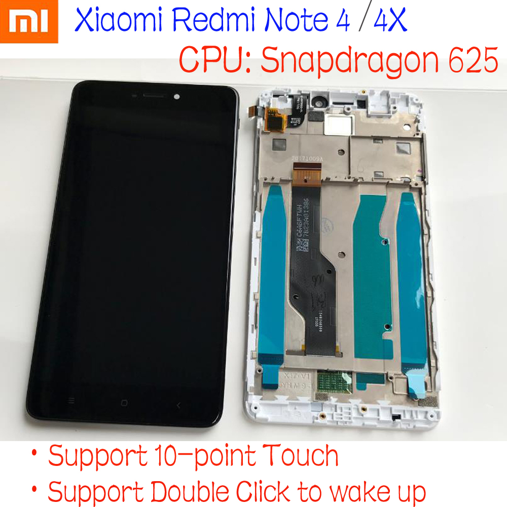 MTK Helio X20/Snapdragon 625 Globale di 32 GB/64 GB Display LCD Touch Screen Digitizer Assembly + frame per Xiaomi Redmi Nota 4 4XMTK Helio X20/Snapdragon 625 Globale di 32 GB/64 GB Display LCD Touch Screen Digitizer Assembly + frame per Xiaomi Redmi Nota 4 4X