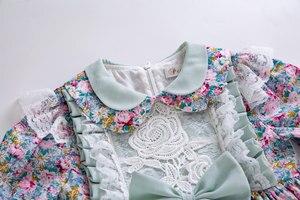 Image 4 - Pettigirl Summer Party Wedding Baby Meisje Bruiloft Bloem Gedrukt Rose Borduren Jurk Voor Kid B468 (Jurk Lengte Onder Knie)