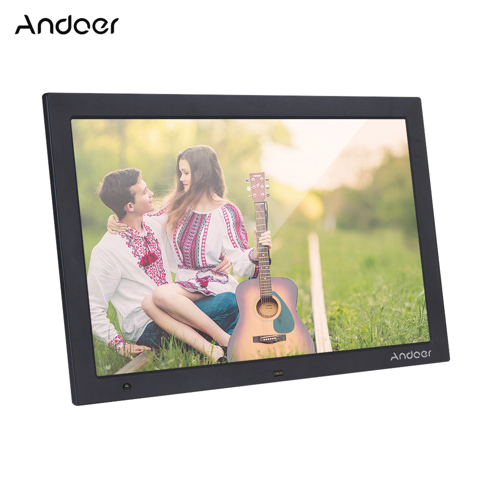 Andoer 15.4 Inch HD Digital Photo Frame Electronic Picture Album 1080P Video Music Player with Motion Sensor Scroll Subtitle-in Digital Photo Frames from Consumer Electronics    2