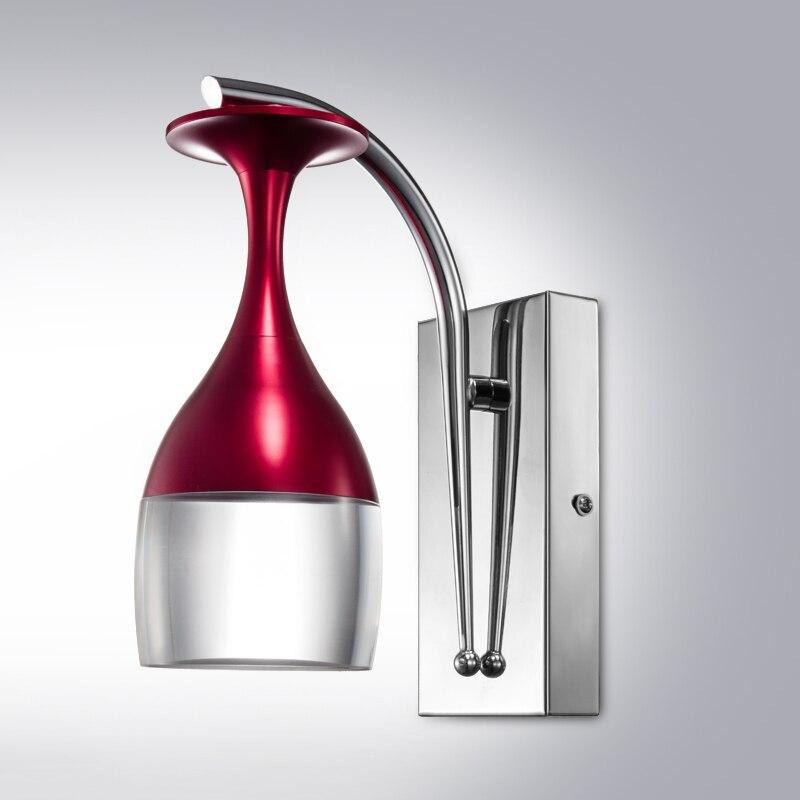 ФОТО 2016 new modern minimalist creative LED glass wall lamp bedroom bedside lamp