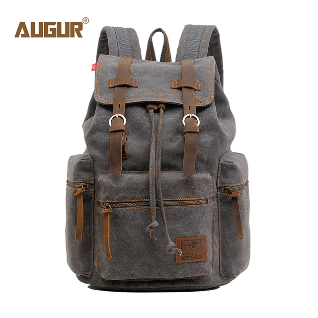 Classic Men and Women Backpack Heavy Durable Canvas Vintage  Travel  Large Capacity Laptop School Backpack  BackBag