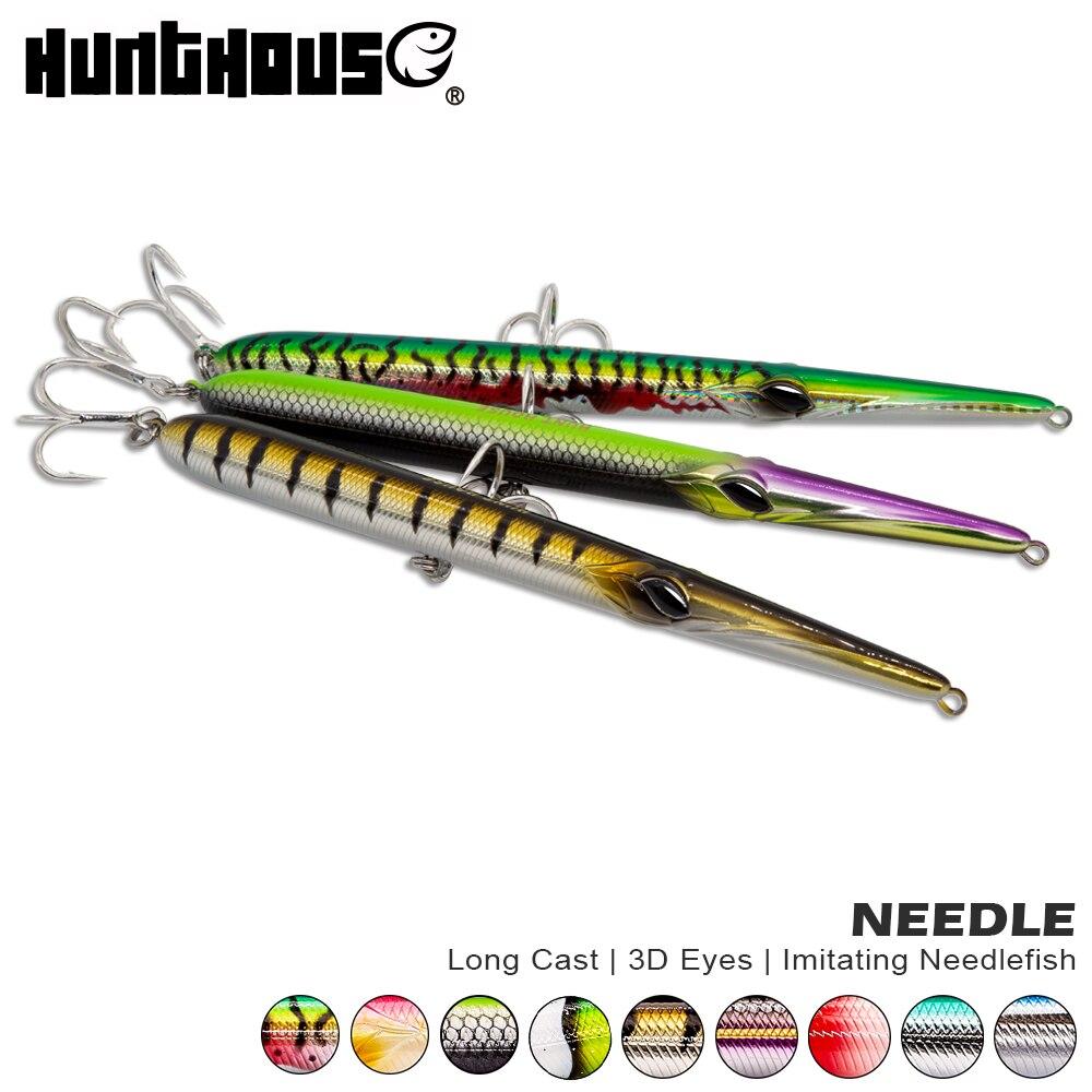 Hunthouse aguja stylo de señuelo de pesca mucho de lápiz stickbait flotante y hundiendo 205mm 31/36g saltando garfish sphyraena pesca