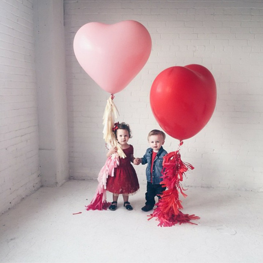 1pcs 36inch Large Heart Latex Balloon Red Pink White Heart Balloon Wedding Pretend Birthday Party Props Valentine's Day Balloons