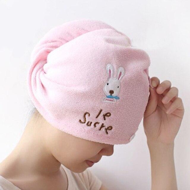 Women Super Absorbent Quick-drying Hair Towel Microfiber Hair Dry Cap Randomly Color
