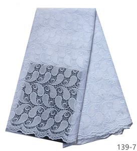 Image 1 - Latest African Laces Fabrics Embroidered African Guipure French Lace Fabric 2019 African French tulle Net Lace Fabric 139