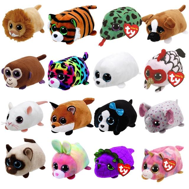 10CM Mini teeny tys Ty Plush Toys Beanie Boos Big Eyes fox unicorn Pocket  TSUM Candy pig Stuffed Doll Pink Owl TY Baby Kids Gift 58cdb7bf772