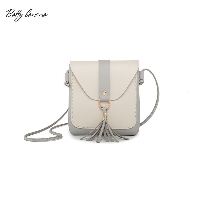 где купить BATTY BANANA Fashion Small Bag Female Flap Tassel Shoulder Bags for Women 2018 Women Messenger Bags Crossbody Woman Bag по лучшей цене