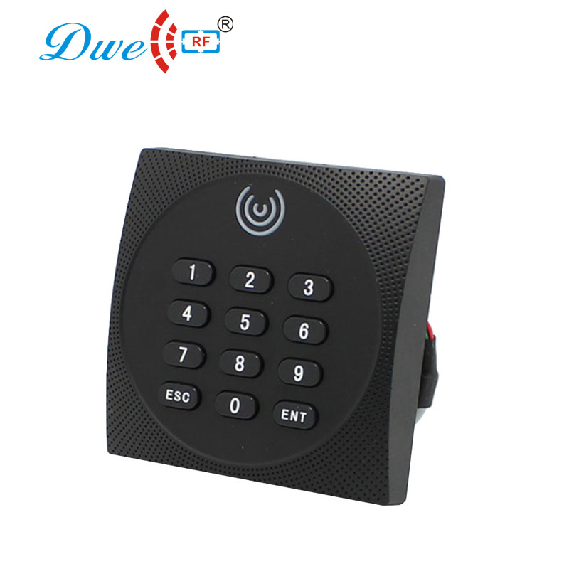 DWE CC RF access control card reader 125khz EM4100 contactless reader waterproof proximity keyboard readers dwe cc rf 2017 hot sell 13 56mhz 12v wg 26 rfid outdoor tag reader for security access control system