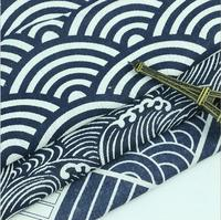 150x100cm Wave Japanese Twill Cotton Fabric For Cushion Curtain Telas Patchwork A Metro Sofa Upholstery Fabric