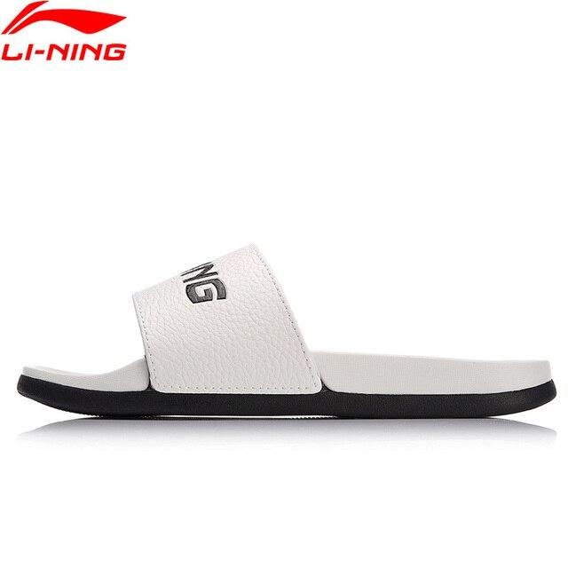 Li-Ning Women LN SLIPPER PU Beach & Outdoor Sandals Light Weight LiNing Breathable Sport Slippers Aqua Shoes AGAN004 XWT1298