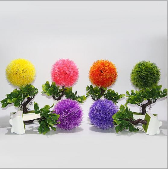 6 Style Nouveau artificielle usine à billes décoration simulation arbre bonsaï bureau intérieur de mariage de noël décoration plante verte arbre dans Artificielle et Fleurs Séchées de Maison & Jardin