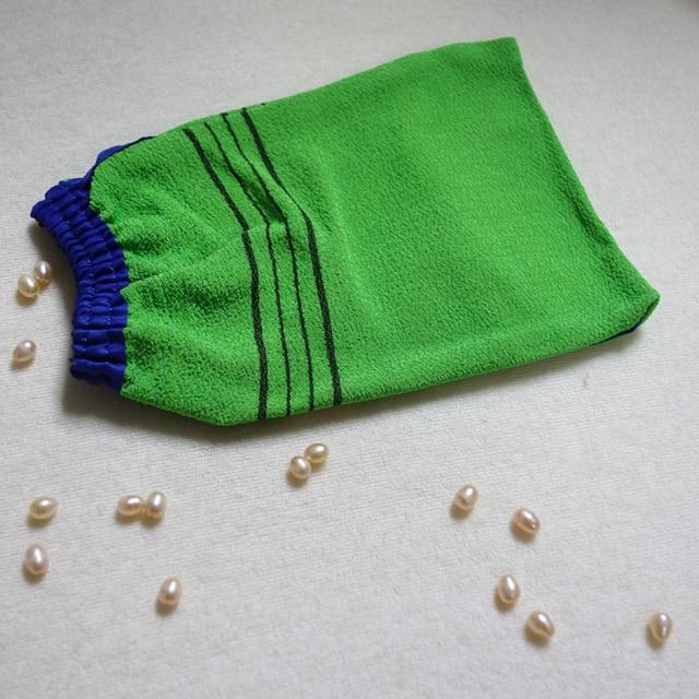 Free shipping 5pcs/lot  korea hammam scrub mitt magic peeling glove exfoliating tan removal mitt
