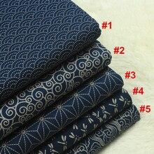 Наполовину ярдовая импортная хлопковая льняная ткань, мягкая ветерая ткань с принтом, ручная работа, Лоскутная ткань для одежды, золотая ткань для упаковки CR-861