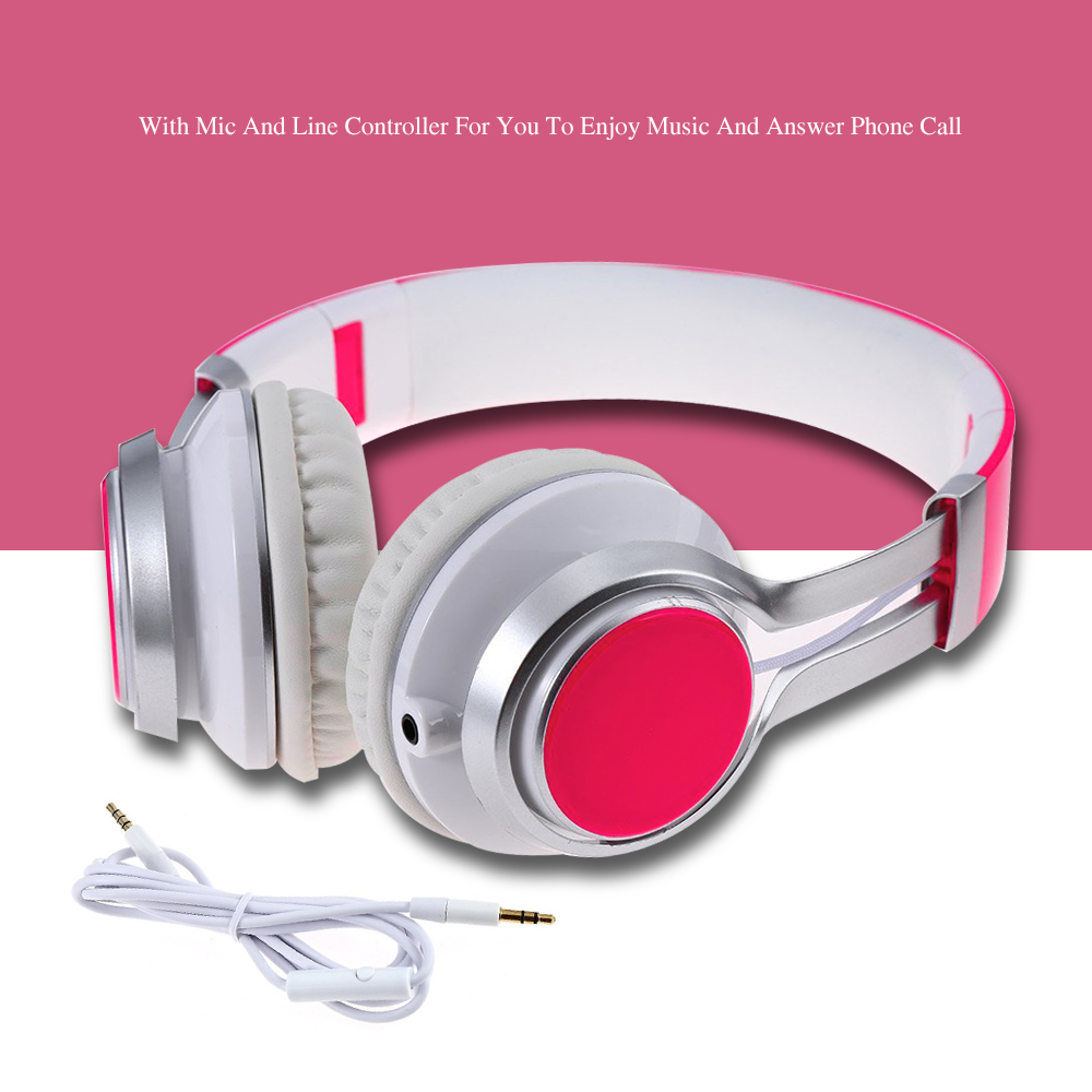 Ep-16 Headband Style headphones Headset with HD mic Handsfree Call & Music Pause/Switch/Play For Computer Laptop Smartphone PC handsfree call metal earphones with mic