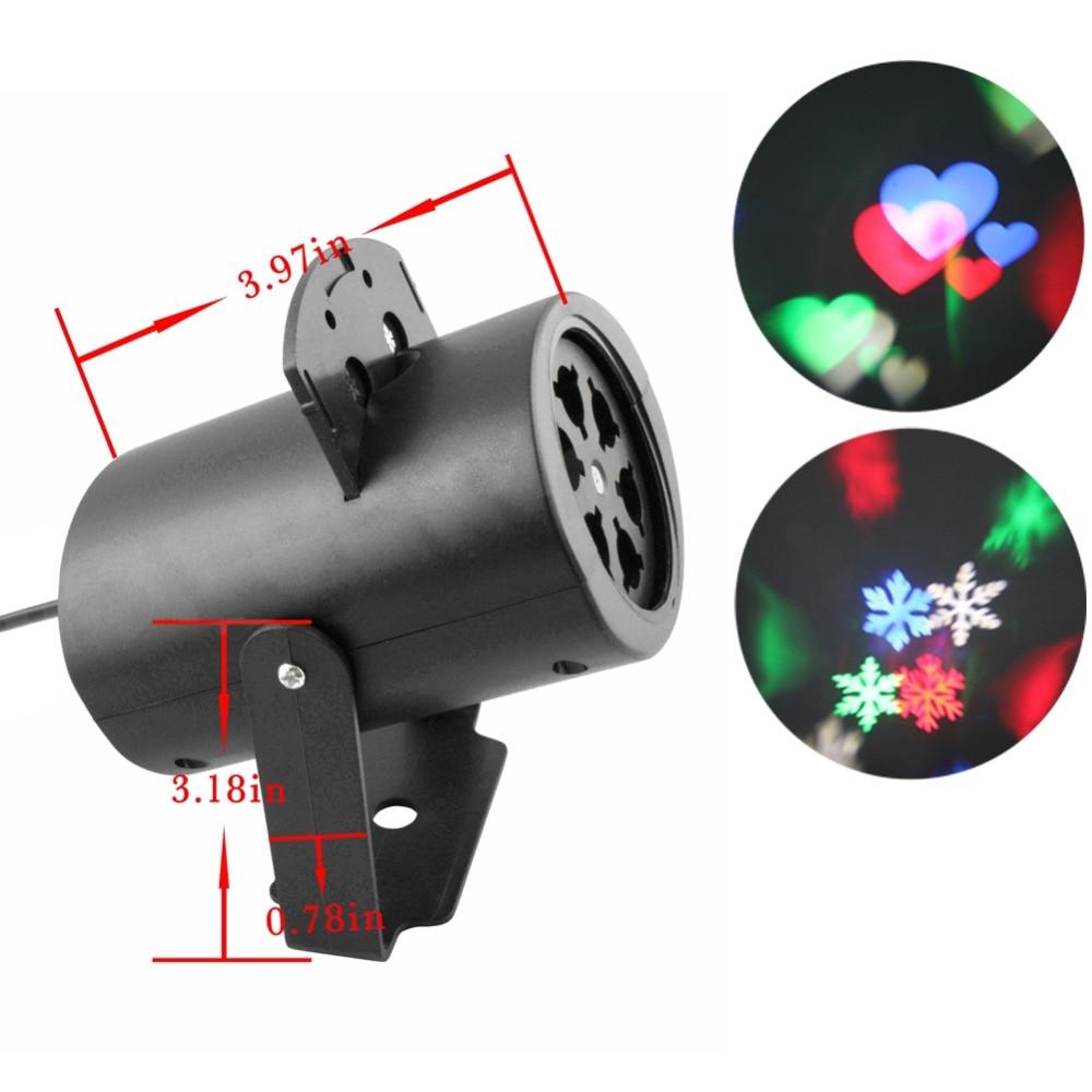Moving Sparkling <font><b>LED</b></font> Snowflake Landscape Laser Projector Light Wall <font><b>Lamp</b></font> Xmas Festival Atmosphere Decoration Light FULI