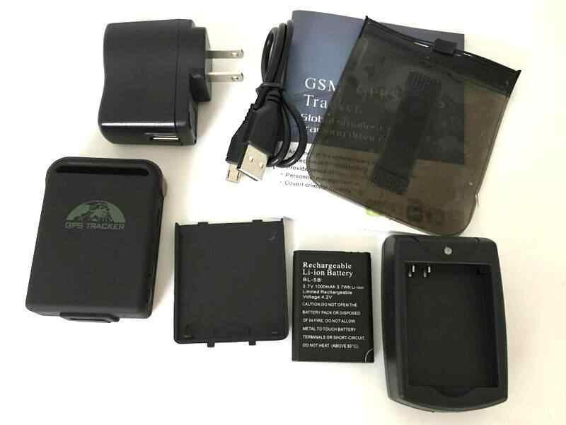 4 zespół 850/900/1800/1900MHz New Arrival lokalizator gps GPS102B TK102B ładowarka samochodowa + bateria bez pudełka