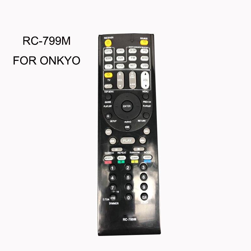 New Remote Control RC-799M For ONKYO AV RC799M RC-737M RC-834M/RC-735M RC-765M TX-NR414 TX-NR515 TX-NR717 TX-SR507S TX-SR507 replace remote control rc 799m for av receiver remote for onkyo tx nr616 tx nr626 ht s5400 ht s5500 av receiver