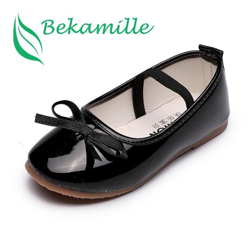 cf7a829b59 Alta qualidade sandálias de couro Meninas sapatos único crianças princesa  das meninas das crianças bowtie sapatos baixos Estudantis K3049
