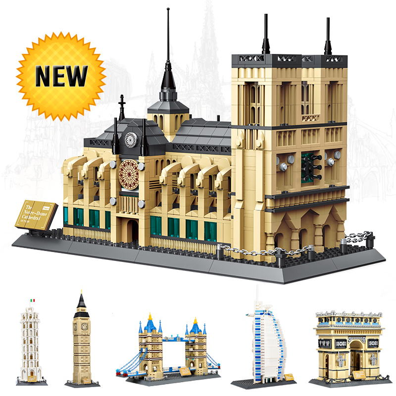 World Great Architecture Large Wange Building Blocks Set City Buildings Interesting Home Decor Kids Toy Bricks Compatible lepin loz blocos building blocks architecture model rockefeller center toys for children forge world city house buildings bricks 1003