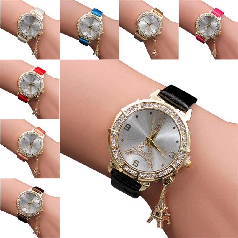 Clock Women Female Models Fashion Thin Belt Rhinestone Belt font b Watch b font Charming Gift